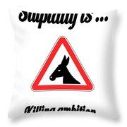 Killing Bigstock Donkey 171252860 Throw Pillow