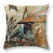 Killing Fields Museum Cambodia  Throw Pillow