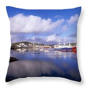 Killybegs, Co Donegal, Ireland Throw Pillow