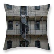 Kilmainham Gaol Spiral Stairs Throw Pillow