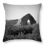 Kilmanaheen Church Ruins Ennistymon Ireland Throw Pillow