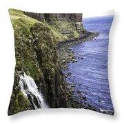 Kilt Rock On The Isle Of Skye Throw Pillow