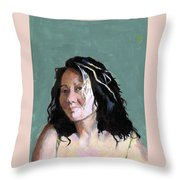 Kimie In Acrylics Throw Pillow