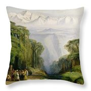 Kinchinjunga From Darjeeling Throw Pillow
