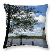 Kinderdijk Windmill Throw Pillow