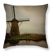 Kinderjik Windmill Throw Pillow