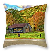 Kindred Barns Painted Throw Pillow