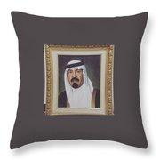 King Abdullah Throw Pillow