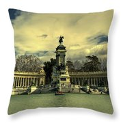 King Alfonso Monument  Throw Pillow