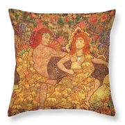 King And Queen Of The Fall Throw Pillow