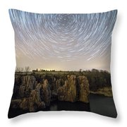 King And Queen Star Trails Throw Pillow