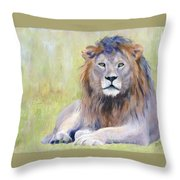 King At Rest Throw Pillow