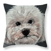 King Cavalier And Toy Poodle Mix Throw Pillow