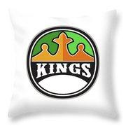 King Crown Kings Circle Retro Throw Pillow
