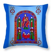 King David And His Musicians Throw Pillow
