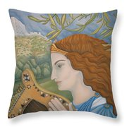 King David In His Youth Throw Pillow