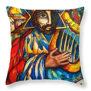 King David Throw Pillow