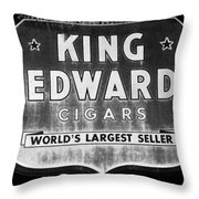 King Edward Cigars Throw Pillow