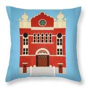 King Edward Street Shul Throw Pillow