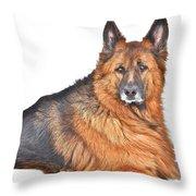 King Falco Throw Pillow