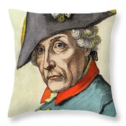 King Frederick II Of Prussia Throw Pillow