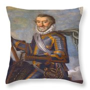 King Henry 4 Portrait Throw Pillow