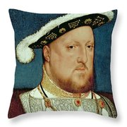 King Henry Viii Throw Pillow by Hans Holbein the Younger