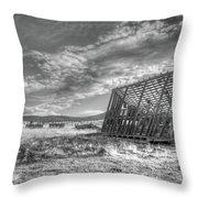 King Homestead_bw-1603 Throw Pillow