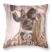 King Kong - Flashbulbs Anger Kong Throw Pillow