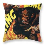 King Kong Throw Pillow by Georgia Fowler