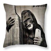 King Kong Selfie Throw Pillow