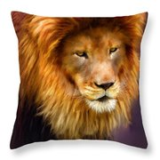 King Throw Pillow by Michael Greenaway