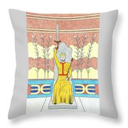 King Minos Throw Pillow