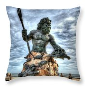 King Neptune Virginia Beach  Throw Pillow