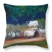 King Of Green Hill Farm Throw Pillow by Donna Tuten