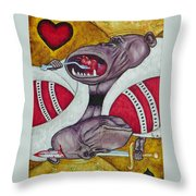 King Of Heartbreak Throw Pillow
