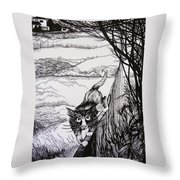 King Of Midnapore Throw Pillow