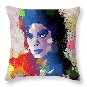 King Of Pop Throw Pillow