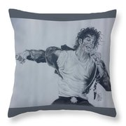 King Of Pop Throw Pillow