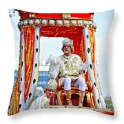 King Of Rex And Page - Mardi Gras New Orleans Throw Pillow