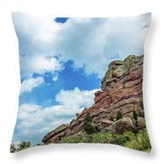 King Of Rocks Throw Pillow by Tyson Kinnison