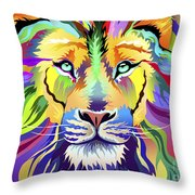 King Of Techinicolor Variant 1 Throw Pillow