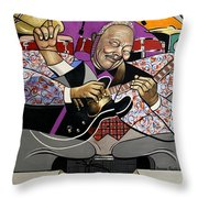 King Of The Blues Throw Pillow