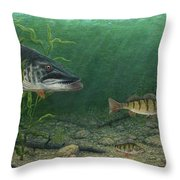 King Of The Cove Throw Pillow