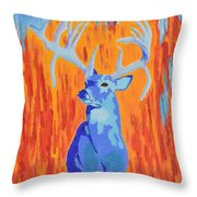 King Of The Fall Throw Pillow
