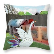 King Of The Hen House Throw Pillow