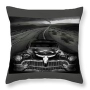 King Of The Highway Throw Pillow