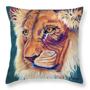 King Of The Lions Throw Pillow