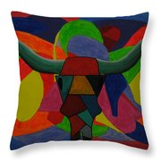 King Of The Ranch Throw Pillow