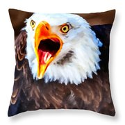 King Of The Raptors Throw Pillow